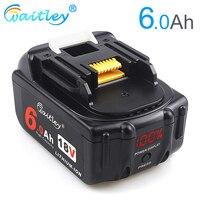 Batería recargable Waitley18V 6.0Ah para herramientas eléctricas Makita baterías de iones de litio 6000mAh 18 V repuesto BL1860B BL1850 6A