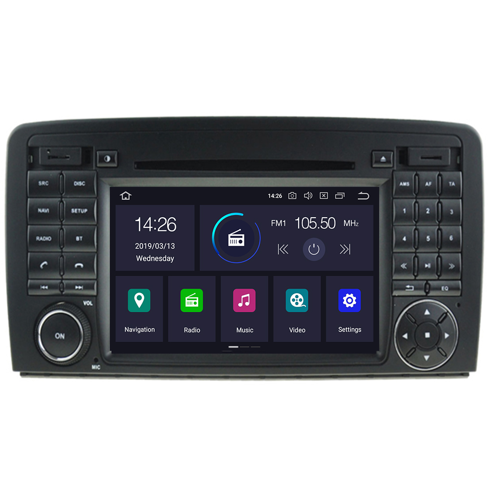 Lecteur DVD de voiture Octa Core 2 din Android 9.0 Radio stéréo GPS pour Mercedes Benz R classe W251 R280 R300 R320 R350 avec wifi
