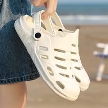 WEH white sandals Male Crok Adulto Clogs Crocse Crocks shoes EVA Sandalias mens sandals summer Beach