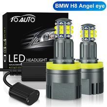 2 stücke H8 LED Angel Eyes Scheinwerfer Led Marker Lichter Canbus für BMW X5 E70 X6 E71 E90 E91 E92 m3 E89 E82 E87 Auto Kopf Lampe 12V