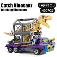 Jurassic Welt Dinosaurier Serie Bausteine Fangen tyrannosaurus rex/Dilophosaurus Flucht Ziegel spielzeug für kinder Jungen Geschenk