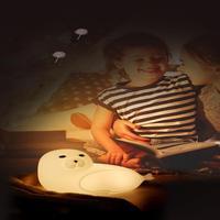 LED populares corbata luz de noche USB de dibujos animados lindo lámpara de noche ballena lindo Pat lámpara para bebé chico habitación decoración lámpara de regalo de Navidad