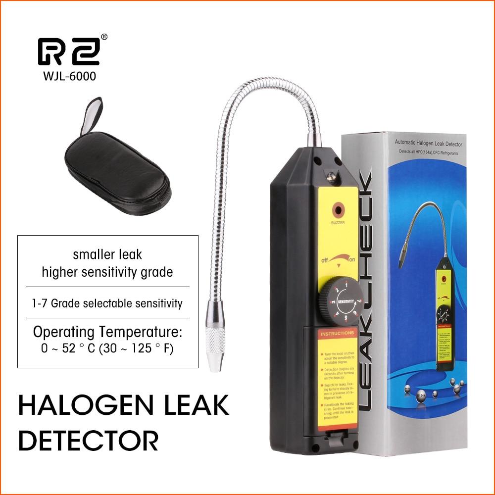 RZ Halogen Leak Detector Freon Gas Leak Detector Gas Analyzer CFC HFC Halogen Gas Refrigerant Leak Detector Air Conditioning R22