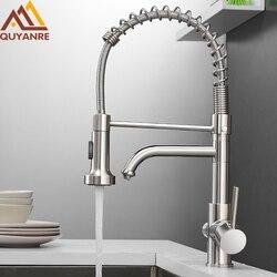 Quyanre Küche Gefiltert Wasserhahn Wasserhahn Messing Purifier Wasserhahn Dual-Sprayer Trinken Wasser Vessel Waschbecken Mischbatterie Torneira