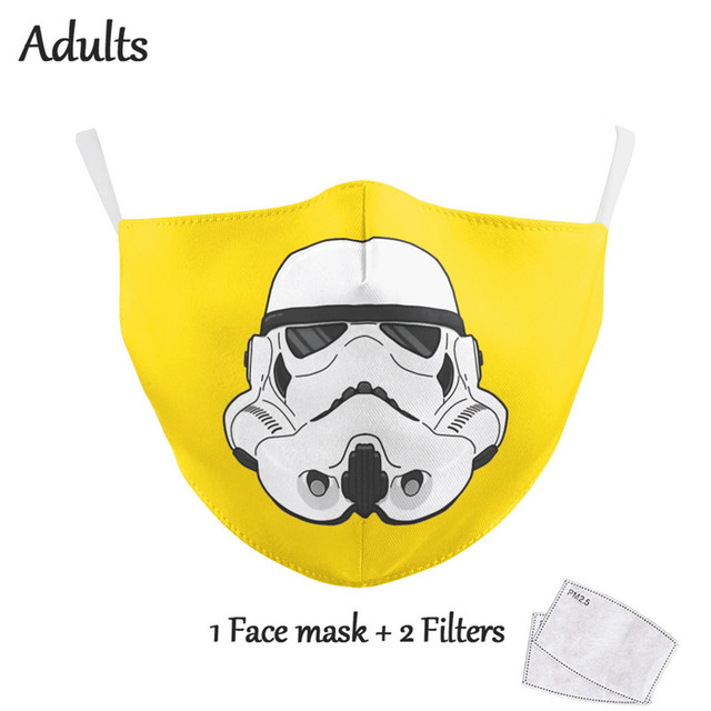 Reusable Face Masks Print Fabric Mask Adult Protective PM2.5 Reusable Mouth Cover Dust Washable Mouth Masks 4