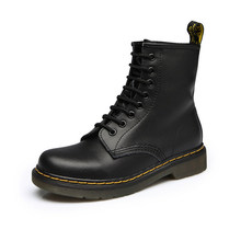 Men Boots Top quality split Leather Classic Dr Boots shoes England Motorcycle Autumn Winter shoe man snow Boot ST50(China)