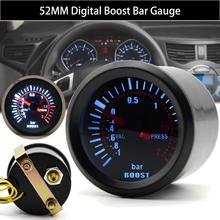 цена на 2 52mm Blue LED Smoke Face Car Auto Bar Turbo Boost Gauge Meter Universal