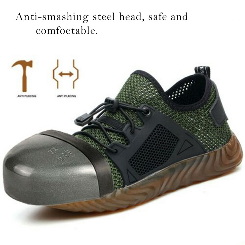 Closeout DealsAir-Safety-Boots Ryder-Shoes Work-Sneakers Steel-Toe Indestructible Breathable Women