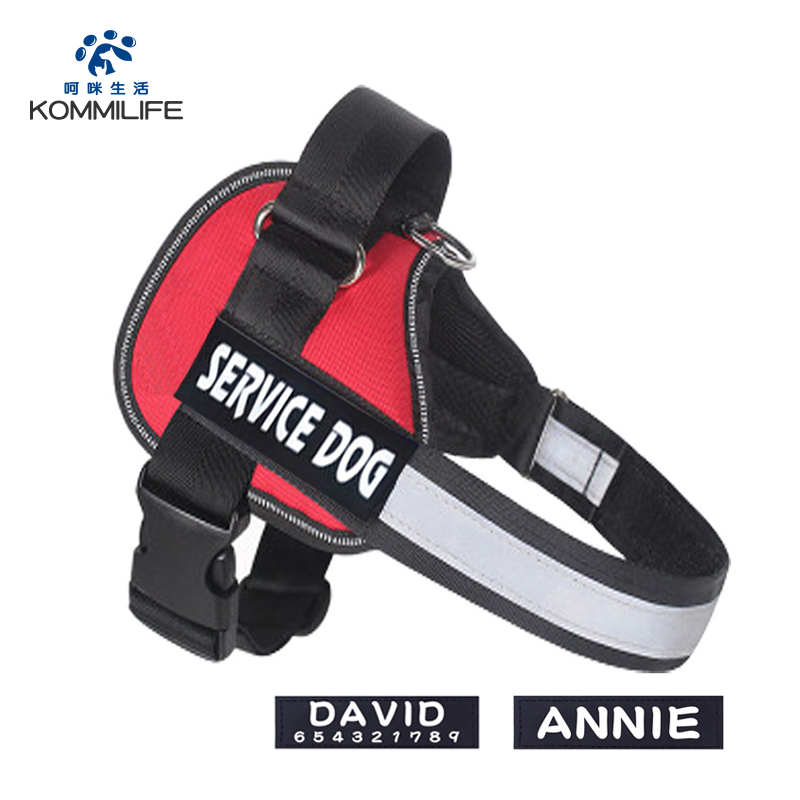 Nylon Personalized Dog Harness Reflective Adjustable Dog Harness And Leash Set Small Medium Large Dog Harness With Name Tag