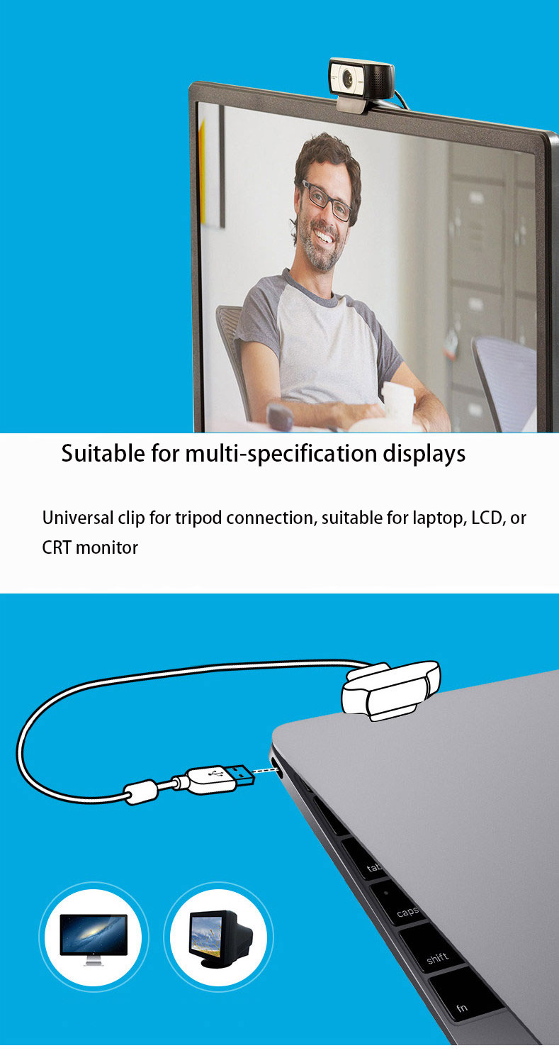 Logitech 90 degree wide-angle HD USB Webcam Suitable for Laptop/LCD/CRT Monitor 10