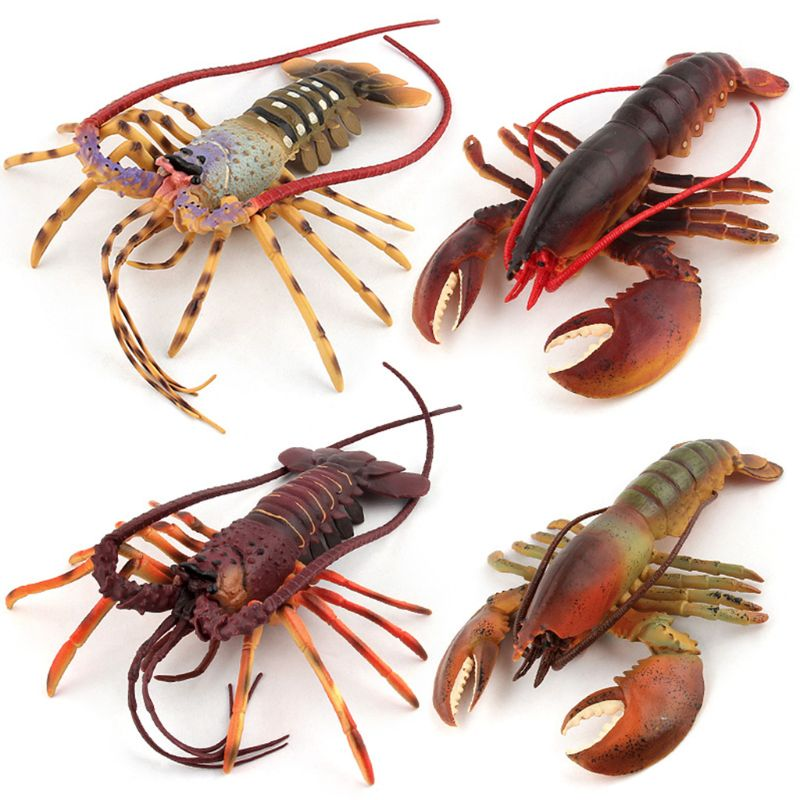 Large Size Simulation Lobster Model Toy Wild Life Animals Figures Children Toy R7RB image