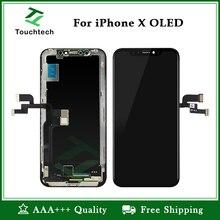 """5 шт. высокое качество OEM lcd 5,"""" без битых пикселей черный Замена для Pantalla iPhone X OLED с сенсорным экраном дигитайзер сборка"""
