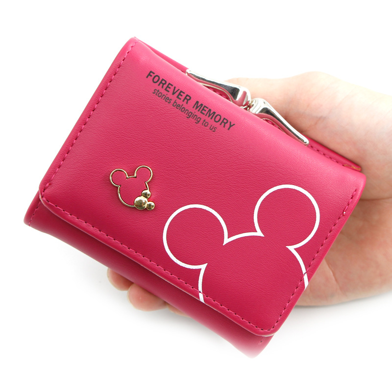 Women Small Wallet Cartoon Mickey Cute Coin Purse Hasp Card Holder Womens Wallets And Purses Female Wallets
