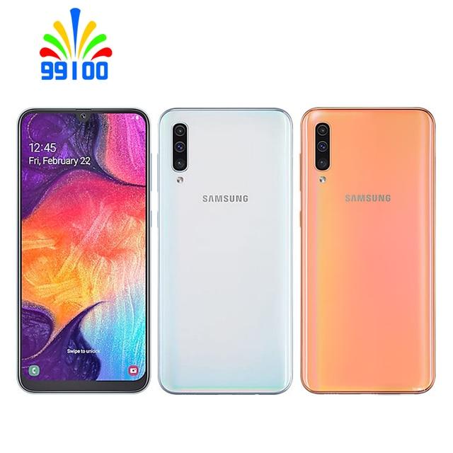 Refurbished Unlocked Cell Phone Samsung Galaxy A50 6.4inch  4GB+64GB/128GB Single/Dual Sim Octa Core 10nm Exynos 9610 5