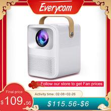 Everycom et30 mini projetor nativo completo hd android wifi opcional 1920x1080p portátil led beamer 4k vídeo cinema em casa presente da criança