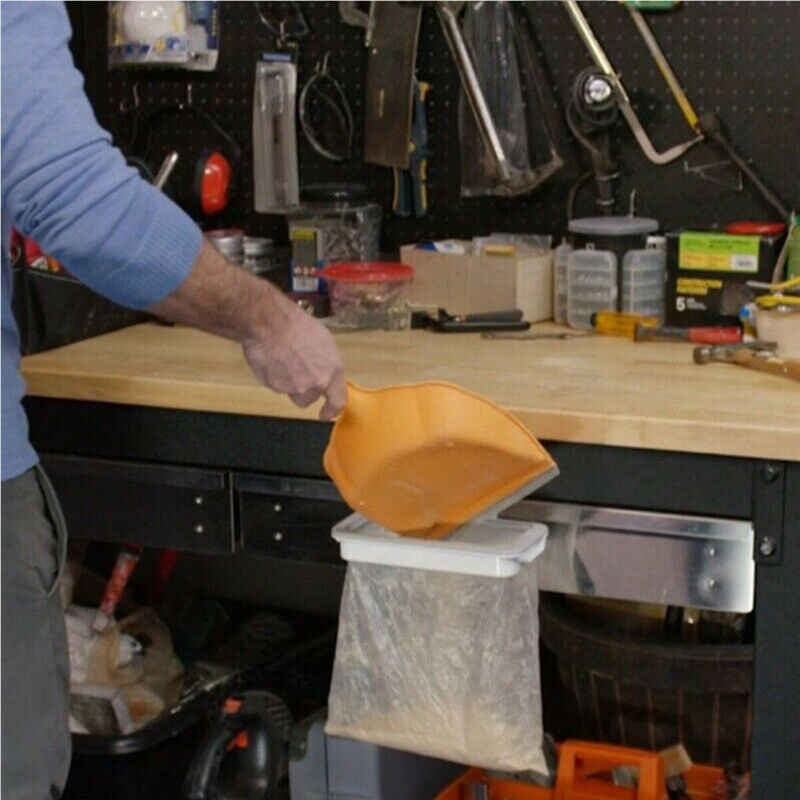 พลาสติก-กลับถังขยะกระเป๋า Bracket Rack แขวนครัวชั้นวางของแขวนถุงขยะครัวตู้ Stand