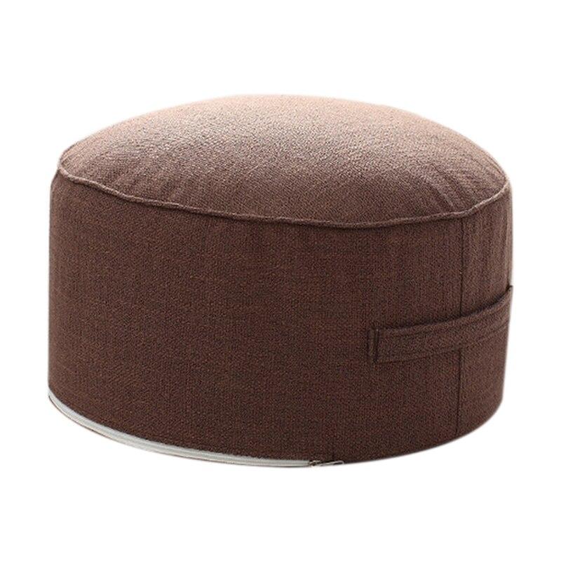 Дизайн, круглая высокопрочная губчатая подушка для сиденья, Подушка Татами, медитация, Йога, круглый коврик, подушки для стула - Цвет: Coffee