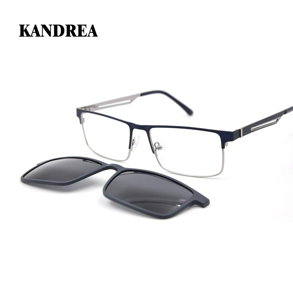 KANDREA 2019 Fashion Women Man Eyeglasses Square Sunglasses Clip Glasses Frame Driving Eyewear Optical Prescription Spectacles