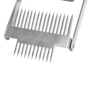 Image 4 - Многофункциональные инструменты для пчеловодства с двойной иглой из нержавеющей стали и дерева 304, подходят для расчесывания меда, вилки для снятия колпачков