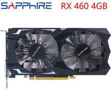 SAPPHIRE Video Karte RX 460 4GB 128Bit GDDR5 Grafiken Karten für AMD RX 400 serie VGA Karten RX460 DisplayPort HDMI DVI Verwendet