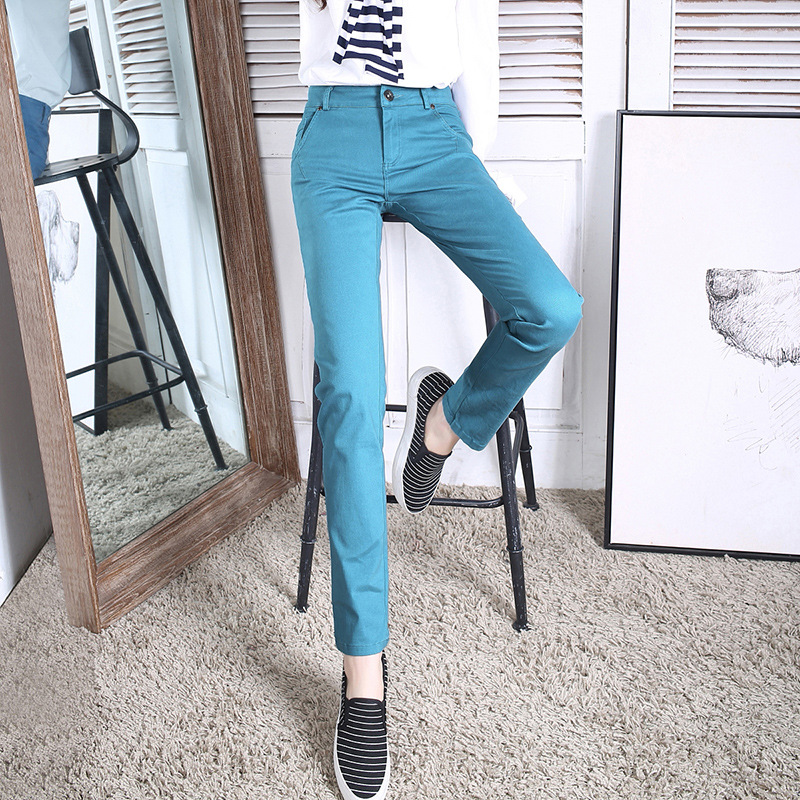 women cotton casual pants office ladies pants Straight plus size 3XL OL Trouser For Women fashion Elastic Pantalones