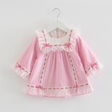 infant Vestidos dresses for baby girl 1 2 3 4 5 Kids Princess plus velvet long-sleeved with Floral Bow Toddler Girl Dresses designer girls dresses with bags vintage floral baby girl vestidos velvet princess dress for party brand kids costumes 12 colors