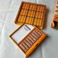 Shu du qi Adult Tabletop Game dzieci zabawki do wczesnej edukacji dzieci możliwość dopasowania logicznego myślenia szuflady drewniane Sudoku na