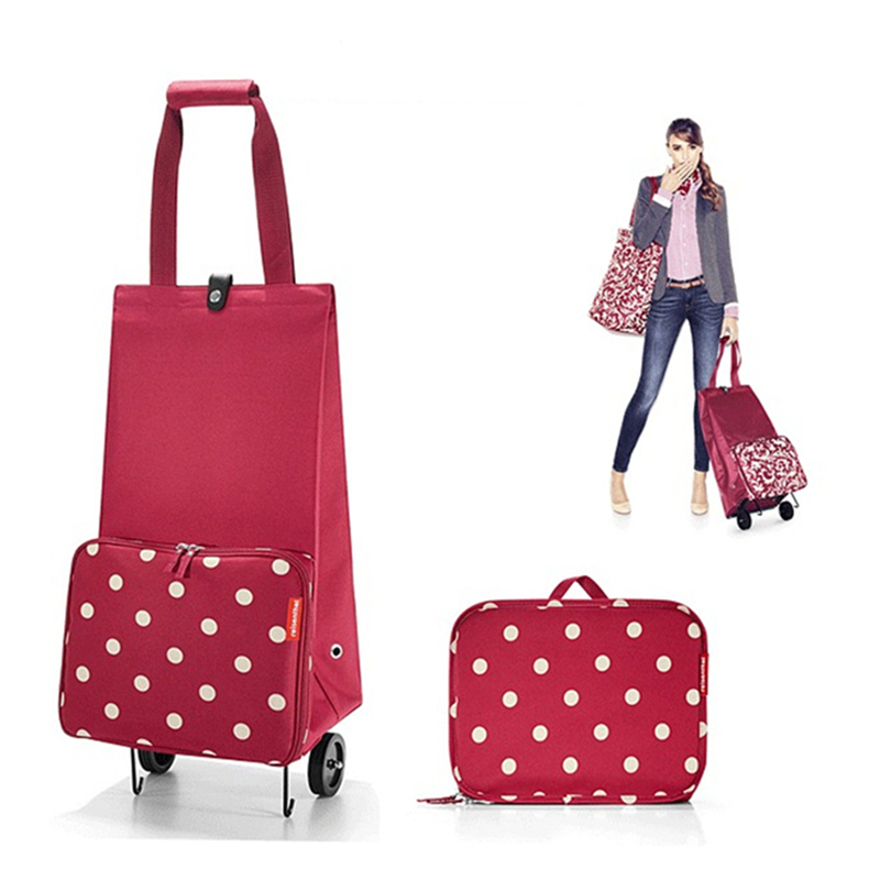 Folding Shopping Bag Shopping Cart On Wheels Bag Small Pull Cart Women Buy Vegetables Bag Shopping Organizer Tug Package