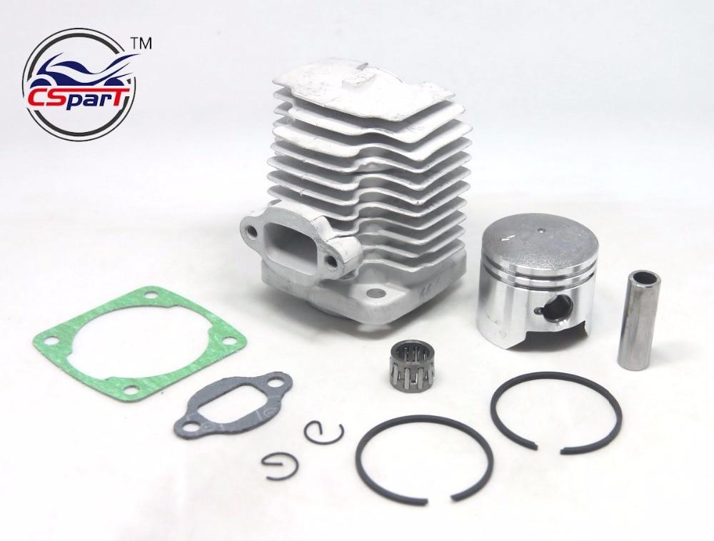 GOOFIT 44mm Piston Kit Assembly for 2 Stroke 47cc 49cc Zenoah G23LH G2D Goped Sport Liquimatic Bigfoot X-Ped Go-Quad