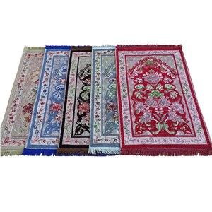 Image 2 - 2020 new fashion dywanik modlitewny muzułmański haj prezent dywan modlitewny Janamaz sajah islamska mata 70 × 110CM