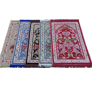 2020 new fashion prayer mat muslim haj gift  rug Janamaz Sajadah islamic 70×110CM