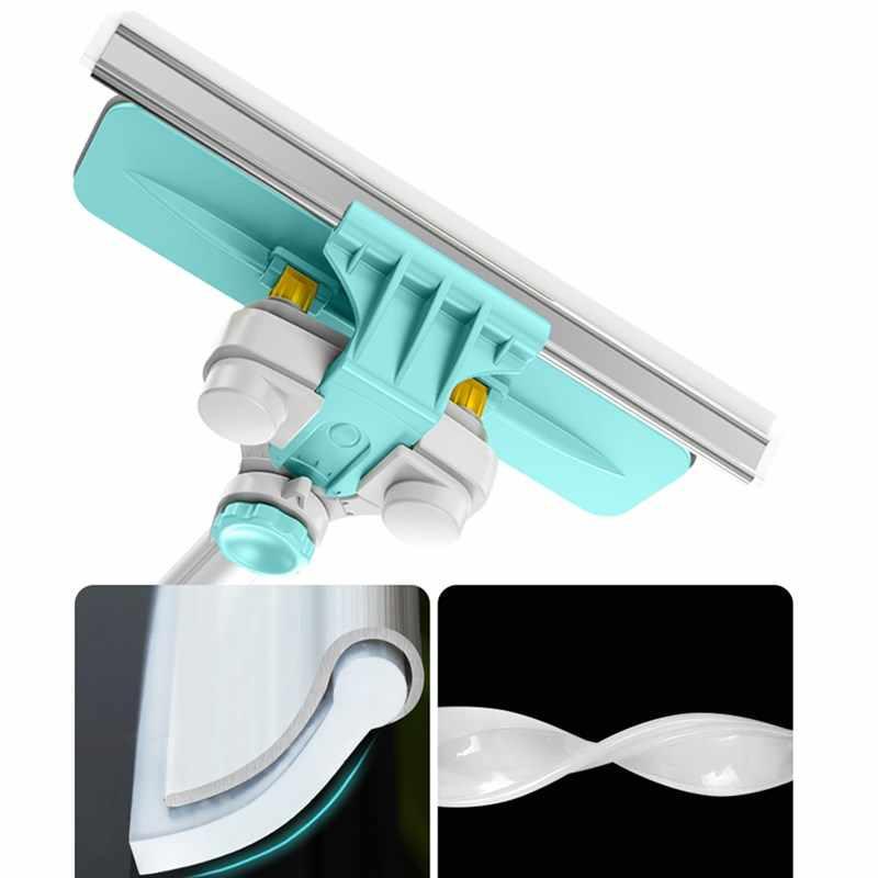 Limpiador de ventanas telescópico Hobot Building palo retráctil Dispositivo de ventana cepillo de lavado de polvo doble cara de vidrio giratorio raspador limpiaparabrisas