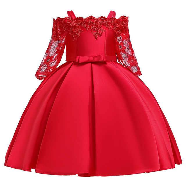 Nuova ragazza 2019 vestito Dal Tutu Della Principessa dolce e bella moda genealogia ragazza di fiore abito da sposa vestito dalla ragazza Di Natale