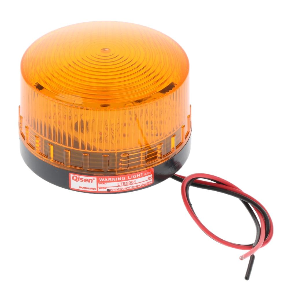 Amber Emergency LED Flashing Strobe Signal Warning Light Lamp Beacon DC12V - Dust & Water Proof
