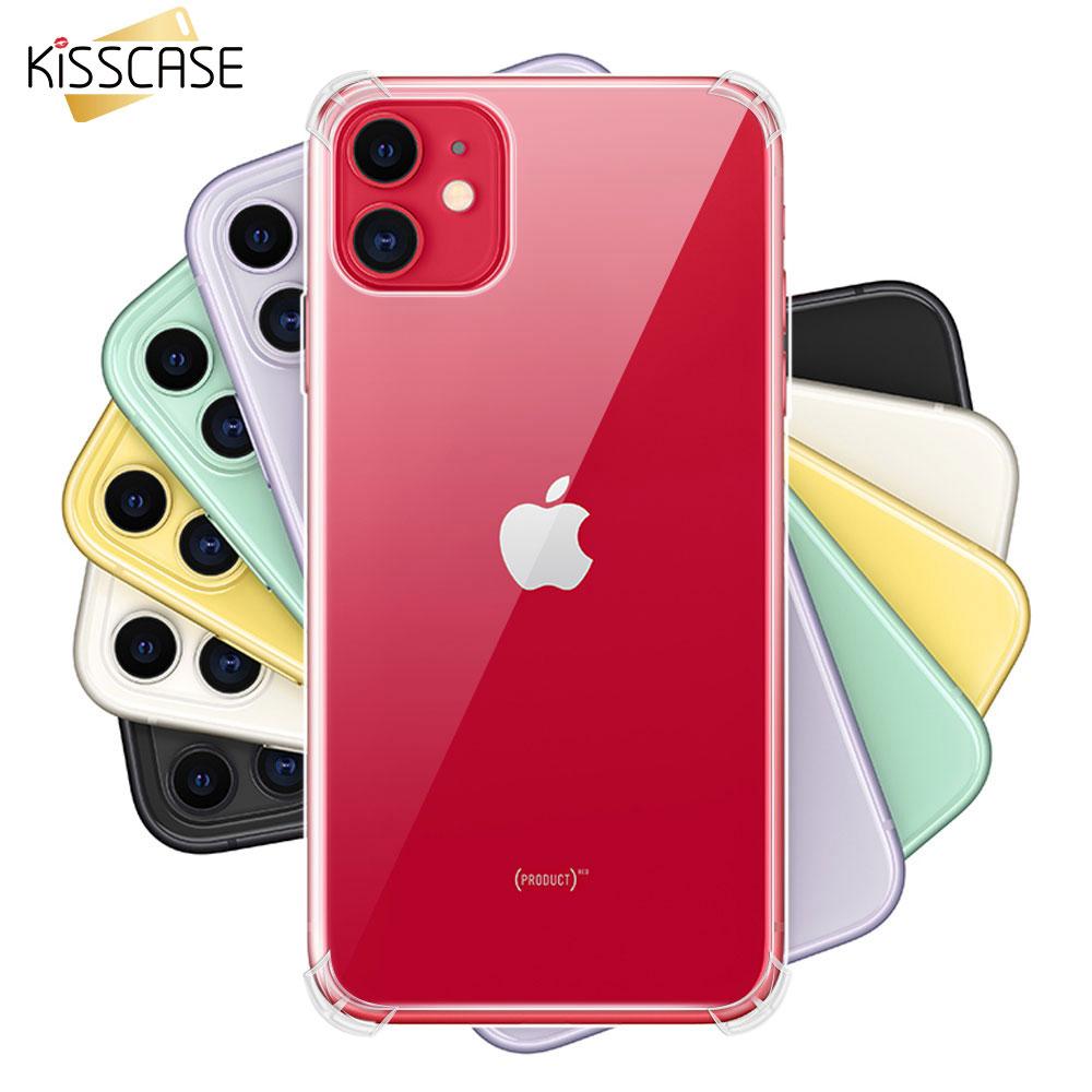 KISSCASE D'origine Antichoc étui pour iphone 11 Pro Max 11 Pro 11 En Silicone Souple étui pour iphone 5s 6 6S 7 8 Plus XR XS Max X Sac