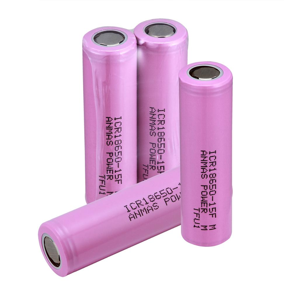 1500mAh 3.7V Batteries Rechargeable Batteries 18650 Battery Flat Top ICR 15F Li-on 3.7 V