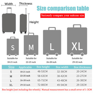 Image 5 - BAMADER Waterproof Luggage Cover Thick Wear resistant Trunk Lid High Elastic Suitcase Travel Accessories Suitcase Dust Cover