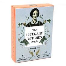 Cartas de oráculo de las brujas literarias, juego de mesa de fiesta familiar, 70 Uds.