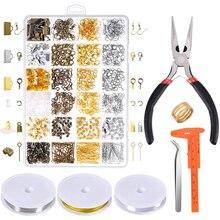 보석 발견 도구 세트 보석 수리 도구 액세서리 구슬 와이어 쥬얼리 펜치 성인 DIY 쥬얼리 만들기 용품 키트