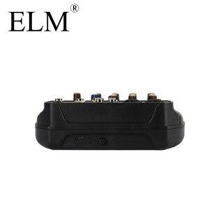 Image 4 - ELM AI 4 Karaoke mikser Audio konsola miksująca kompaktowa karta dźwiękowa konsola miksująca cyfrowy BT MP3 USB do nagrywania muzyki DJ