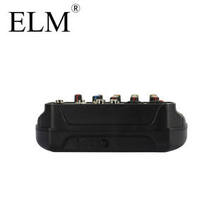 Image 4 - ELM consola mezcladora de Audio para Karaoke, AI 4, tarjeta de sonido compacta, consola mezcladora, Digital, BT, MP3, USB, para grabación de música y DJ