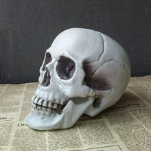 Halloween Decorative Artificial Skull Head Model Horror Prop Plastic DIY Decorations Bars Ornament