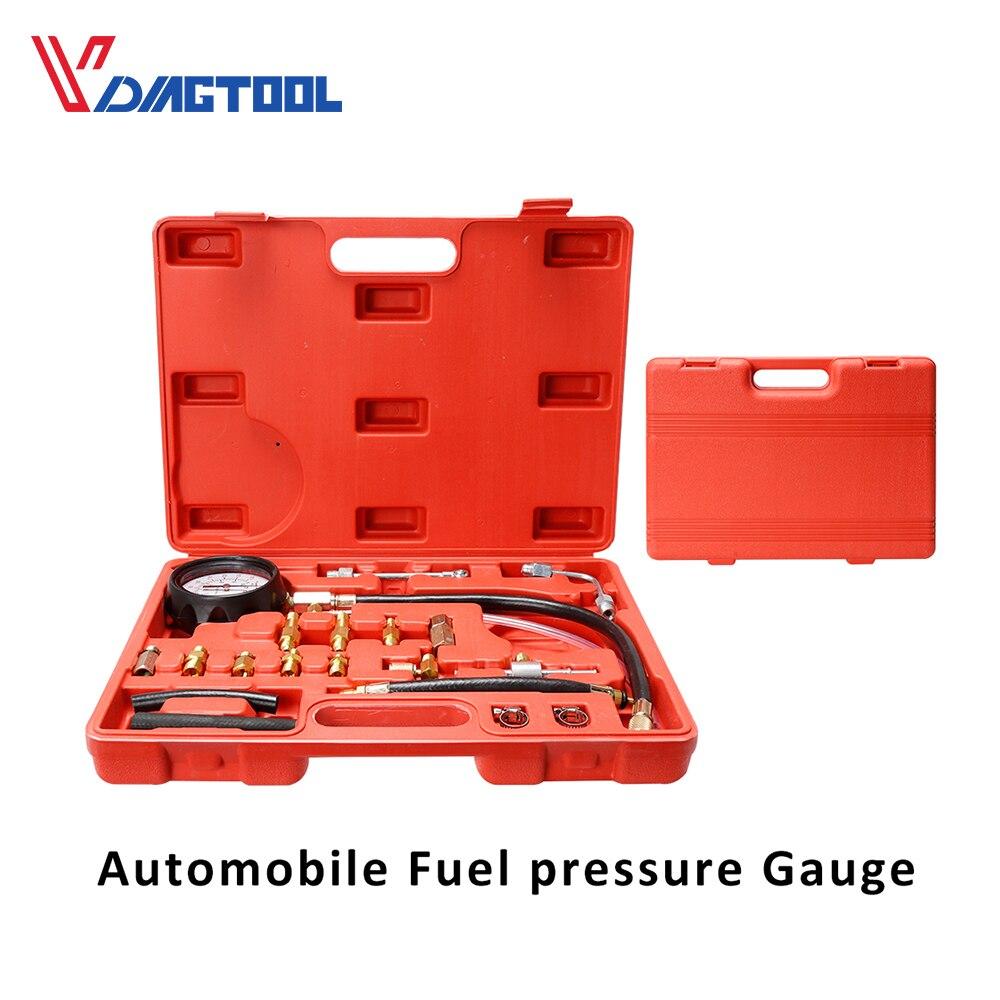 KIMISS TU-114 Petrol Diesel Fuel Pressure Gauge Tester Fuel Injection Pump Diagnostic Tool Kit