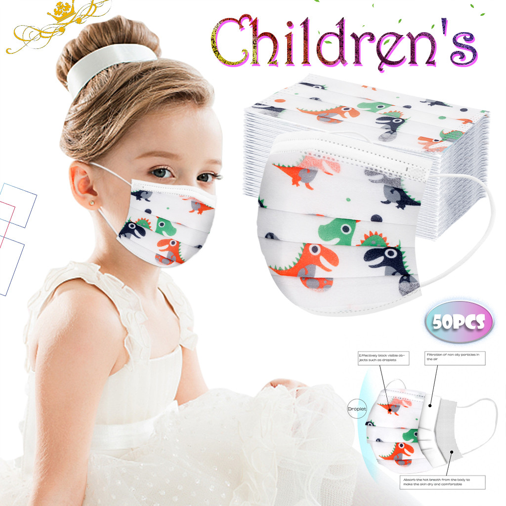 Cartoon <font><b>avatar</b></font> Children's <font><b>masks</b></font> 50pcs 3 layer Disposable Elastic Mouth Soft Breathable Cute Hygiene Child Kids Face <font><b>Mask</b></font> d2 image