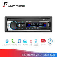 AMPrime 1Din 12V Bluetooth 2.0 Auto Stereo radio FM MP3 Music USB Digital Bluetooth Audio JSD-520 Stereo Multimedia player