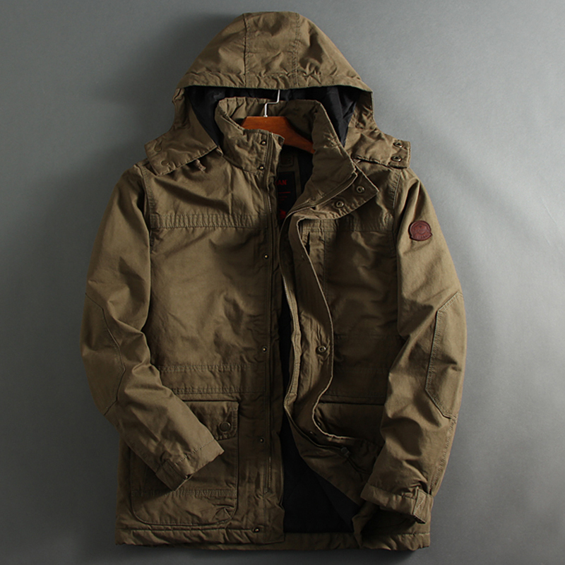 Autumn And Winter Military Style Hooded Parka Coats Thick Warm Man Jackets And Coat European And American Men Clothes 2020 A831