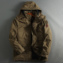 Autumn and Winter Military Style Hooded Parka Coats Thick Warm Man Jackets and C