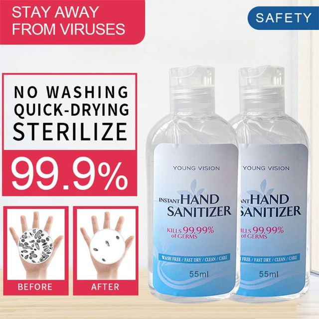 55ml Effective Antibacterial Instant Hand Sanitizer Gel Wash Free Quick-Drying Refreshing Disposable Sterilization Disinfectant 3