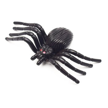 Simulation Spider Toy Trumpet Flower Spider Black Horror Scary Spider Model Fake Spider Whole Person Toy image