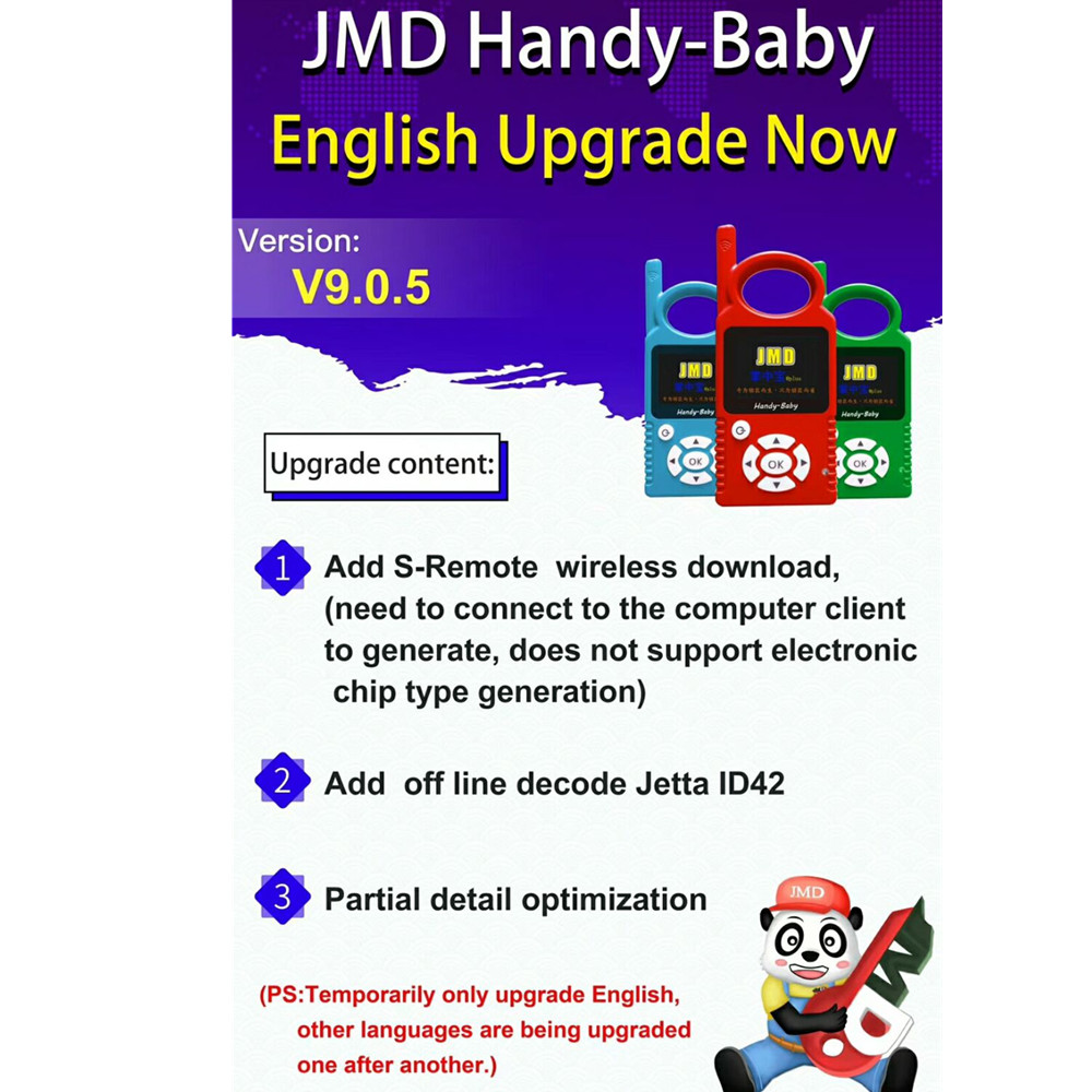 Image 3 - V9.0.5 Handy Baby Can Generate Remote Auto Key Programmer for 4D/46/48 Chips support Multi languages with 1pc JMD Super Remote-in Auto Key Programmers from Automobiles & Motorcycles